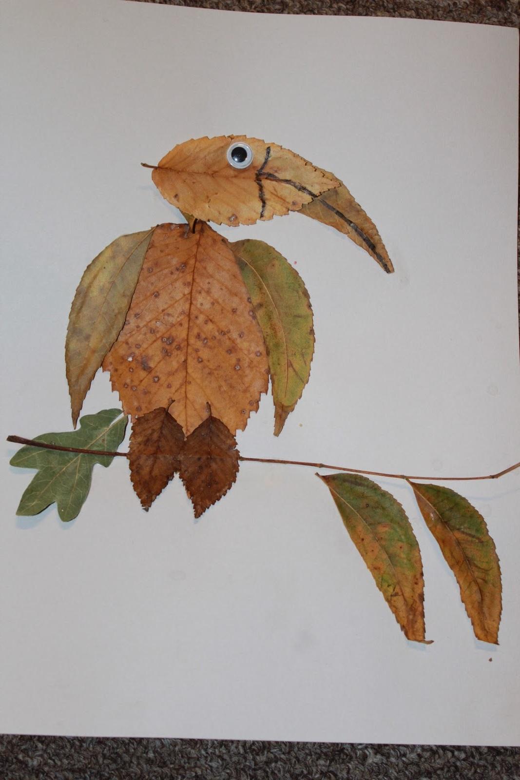 Поделки из листьев с ребенком